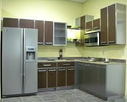 Mixed Kitchen Cabinets Ombre Brown Teak Wood Kitchen Cabinets Mixed Square Ceiling Lamps