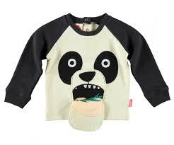 panda sweater sweatshirt black and white panda