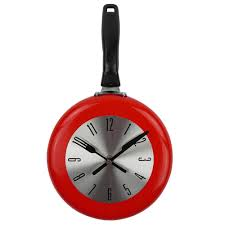 wall clock u2013 metal frying pan design u2013 home decor