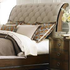 Upholstered Sleigh Bed Liberty Furniture Cotswold Transitional Upholstered Sleigh