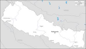 Map Nepal India by Nepal Free Map Free Blank Map Free Outline Map Free Base Map