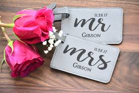 wedding luggage tags personalized wedding gift mr and mrs luggage tags couples