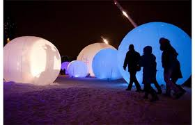 photos colorful spheres polaires light up montreal