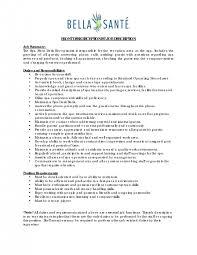 medical front desk receptionist job description medical front