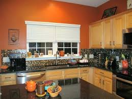 Orange And White Kitchen Ideas Burnt Orange Kitchen Cabinets Faced