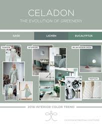 seafoam green home decor interior color trends 2018 ss18 aw18 greenery green sage