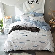Sausage Dog Duvet Cover Amazon Com Lelva Cute Dogs Bedding Set Dachshund Print Bedding