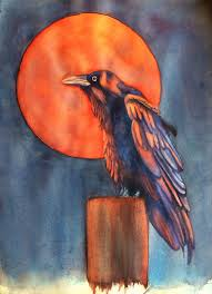 Harvest Moon by Amy Rattner Work Zoom Harvest Moon Raven