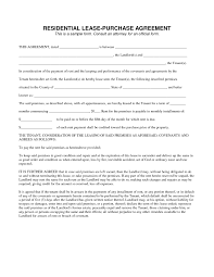 free lease purchase agreement gallery agreement example ideas