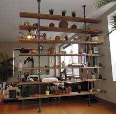 iron off the living room wood bookcase shelves display showcase flower jewelry rack shelf ikea book case pipes wood bookcase made of steel gas piping and