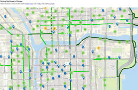 Green Line Chicago Map by Chicago Parking Map Chicago Parking Zone Map United States Of