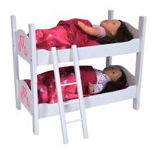How To Make Wooden Doll Bunk Beds by Amazon Com Bunk Bed For Twin Dolls Fits 18 Inch Dolls Toys U0026 Games