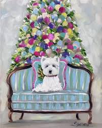 west highland terrier westie tree westie gift