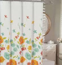 Threshold Aqua Peach Birds Floral Best 25 Orange Shower Curtains Ideas On Pinterest Orange