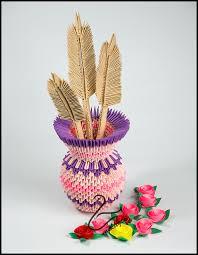 3d Origami Flower Vase Instructions Jak Zrobić Wazon Na Kwiaty Origami 3d Origami 3d Flower Vase