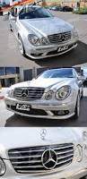 chrome benz chrome black cl5 front bumper bar grille grill for mercedes benz