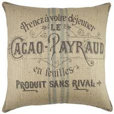 thewatsonshop cacao payraud burlap throw pillow walmart com