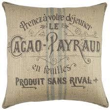 Burlap Decorative Pillows Thewatsonshop Cacao Payraud Burlap Throw Pillow Walmart Com