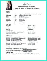 Samples Of Teacher Resumes by Dance Resume Sample Image Projects Pinterest Dancing