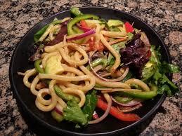 cold udon salad eggy u0027s kitchen
