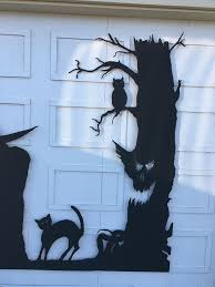 Instructables Cat Tree by Halloween Garage Door Silhouette 6 Steps With Pictures