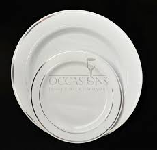wedding plate occasions 120 pack heavyweight disposable wedding