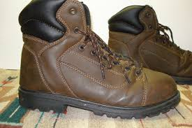 men u0027s brahma rambler brown oiled leather works boots size 12 m