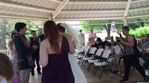 mustang community center mustang town center gazebo wedding ceremony charles arthur perry