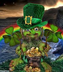irish leprechaun with pot of gold pictures