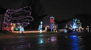 johnson family christmas lights hainline family christmas display overland park kansas