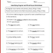 nouns verbs adjectives worksheets 1st grade kristal project