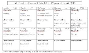 slavens 8th grade math homework assignment sheet 11 16 to