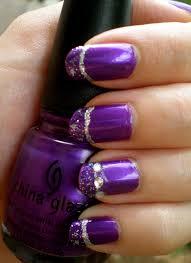 28 purple black nail designs purple and black stripes design nail