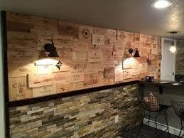 cassette vino un mur de conception bord礬 de caisses de vin 15 exemples de voir