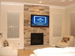 mount tv over fireplace in wall cable management for flat screen