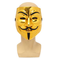 gold v for vendetta guy fawkes mask anonymous halloween