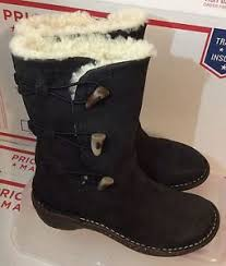 s ugg australia nubuck boots ugg australia kona 5156 shearling nubuck leather boots s sz
