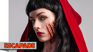deadly red riding hood makeup tutorial halloween makeup ideas