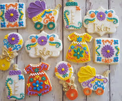 mexican baby shower mexican embroidery baby shower cookies hayley cakes and cookies