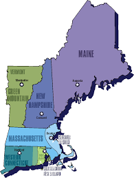Map Of New England Colonies by 13 Colonies