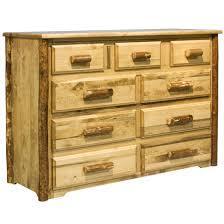 log dressers rustic log furniture by amish meadows