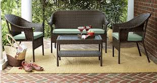 Kmart Patio Table Kmart 40 Patio Furniture 4 Wicker Set W