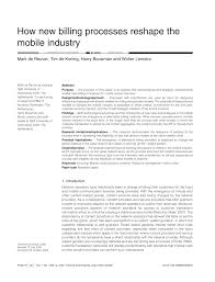 how new billing processes reshape the mobile industry pdf