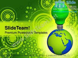 world eco idea go green powerpoint templates ppt themes 0912