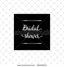 Bridal Shower Photo Album Bridal Shower Hand Written Lettering Bachelorette Stock Vector