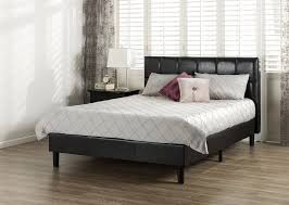 Wood Bed Designs 2012 Amazon Com Zinus Grand Faux Leather Upholstered Square Detailed