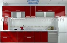 Red Kitchen Cabinet Amazing Twotone Kitchen Cabinets To Reinspire - High gloss kitchen cabinet doors