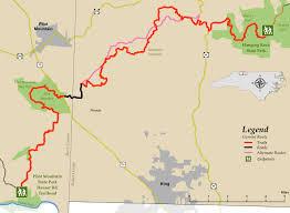 Oak Mountain State Park Trail Map by Segment 7 Mountains To Sea Trail
