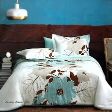 dwell studio flora teal blue brown gray comforter set full queen