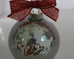 personalized wedding gift first christmas ornament married